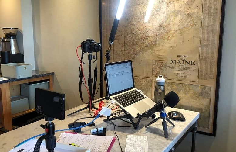 26 Pictures of Desks – Top Marketers Share Tips for Cameras, Mics, Lights and Hamsters