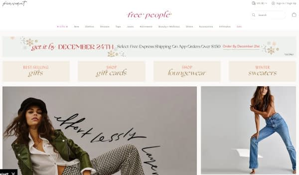 16 Cheerful Examples of Holiday Homepage Designs